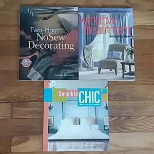 3 Books No sew decorating Design Windows